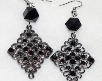 Rhinestone Earrings Diamond Chandelier Jewelry Drop Dangle Christmas Gift