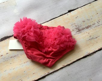 hot pink ruffle butt bloomers- baby gift