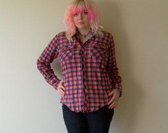 Americana Cotton Plaid Flannel Mens M