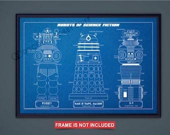 SciFi Robots Print