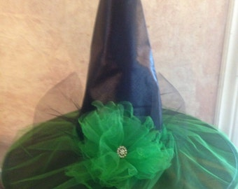 2016 design Wicked Witch Hat - Emerald Green Witch Hat - Costume Witch Hat