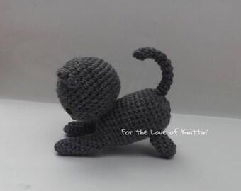 Playful crochet kitten
