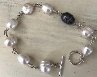 Baroque Pearl Link Bracelet
