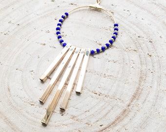 Majorelle blue ECLIPSE necklace - Majorelle blue Eclipse long necklace