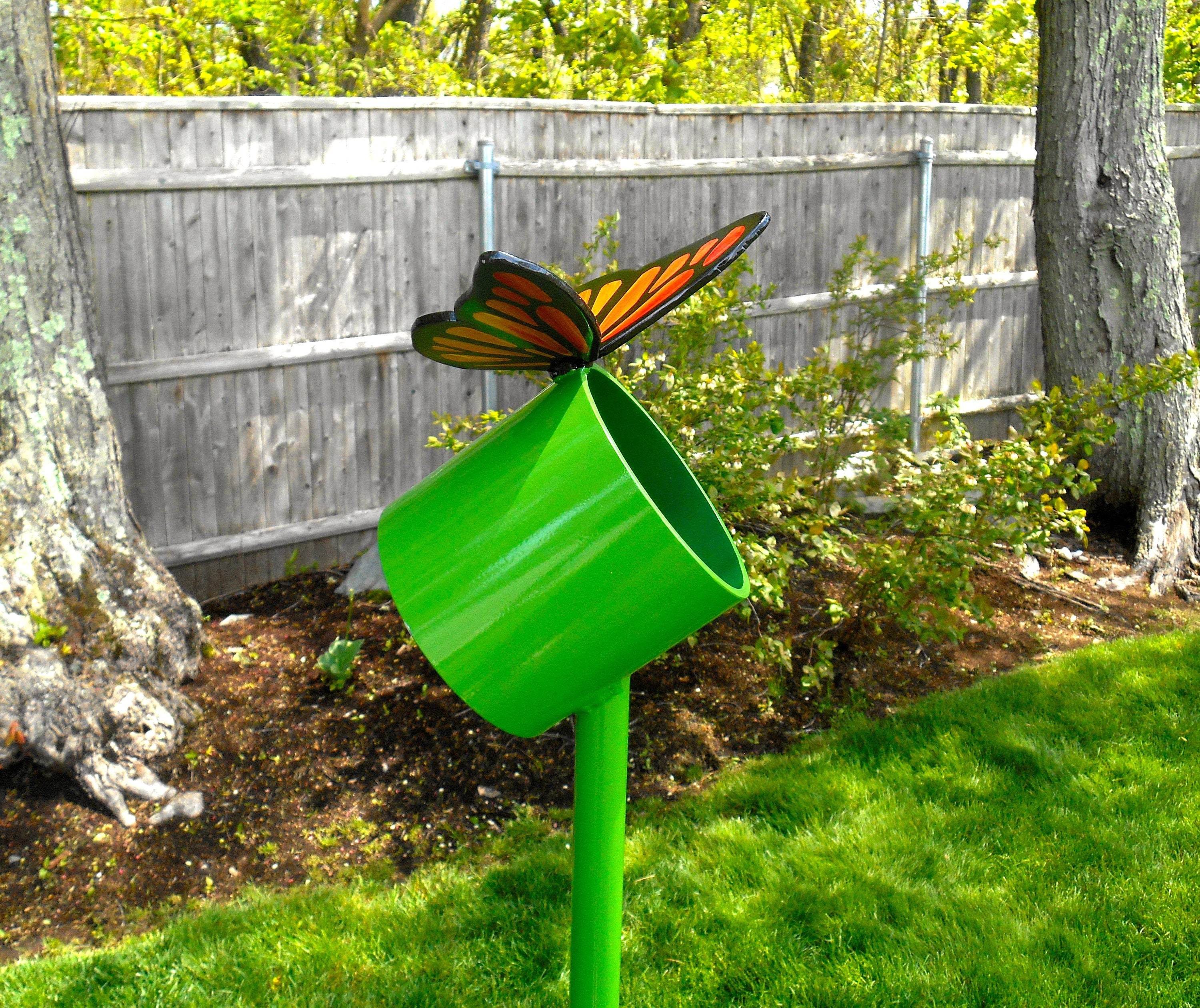 Butterfly Garden Sculpture Butterfly Metal Sculpture Large