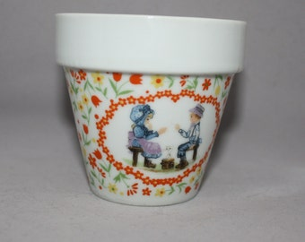 "Vintage Flower Pot "" A Token of Friendship"""