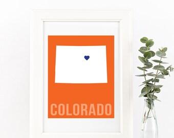 Colorado Home Print – Custom Colorado Print, Colorado Wall Art