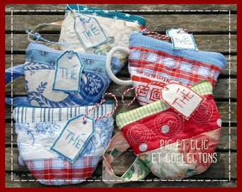Clutch, pouch Tea Cup to order