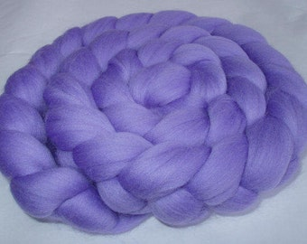 Merino wool roving, merino roving, roving wool, spinning fiber, 20 mic, felting wool, dolls hair, dreads,dread wool,LILAC PURPLE, 3.5oz,100g
