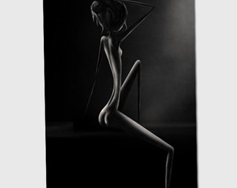 Naked  - 11x8 or 16,5x11 inches fine art print- Signed - Printed by a professional