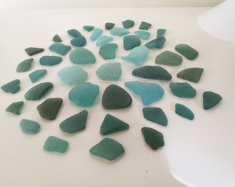 Saturated TEAL Sea Glass Bulk Beach Glass Mosaica For Jewelry & Crafts