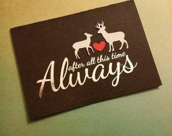 Harry Potter Always Wedding Valentine's Day Anniversary Card