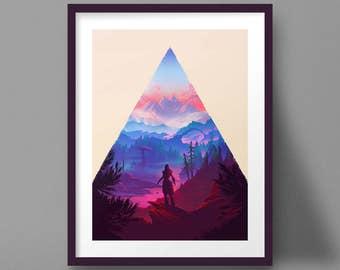 Horizon Zero Dawn Art Print Game Poster Aloy Landscape