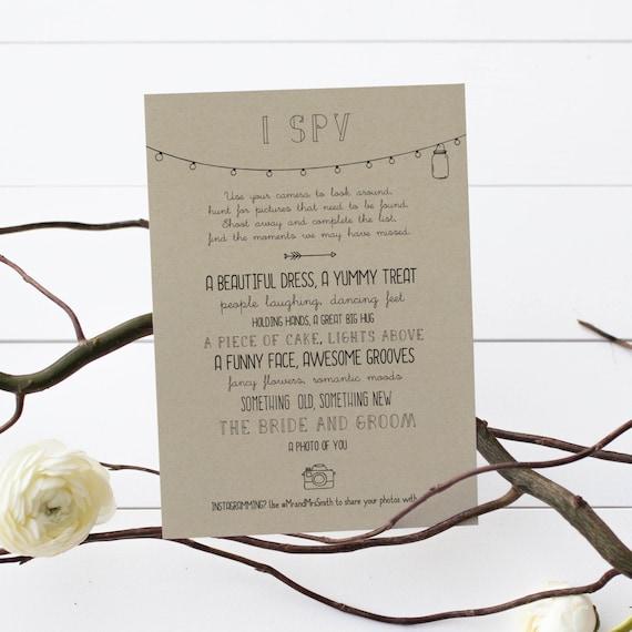 Rustic wedding i spy game editable wedding pdf printable stopboris Images