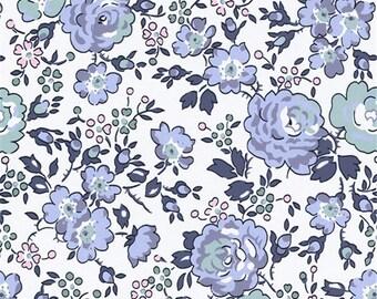 Blue denim color Bliss pattern Liberty print fabric