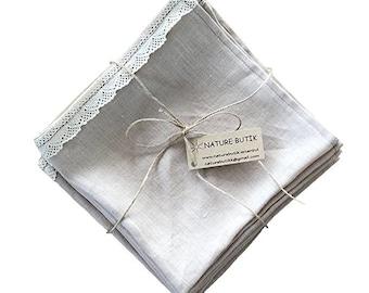 Pure %100 Linen Napkins set of 6