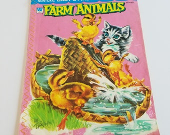 1959 A Whitman Book - Baby's First Book Farm Animals
