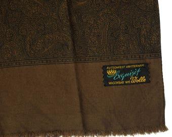 Men scarf muffler / Paisley / Paisley scarf / Opera Foulard / Scarf muffler / Oblong scarf/ Vintage / Gift for men / Fine wool / Wool Fabric