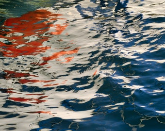 Abstract Photo Water Color Reflections San Diego Bay