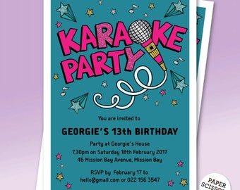 Karaoke party invitations selol ink karaoke party invitations stopboris Choice Image