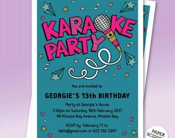 Karaoke invitation etsy stopboris Image collections