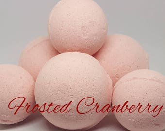Frosted Cranberry Bath Bomb