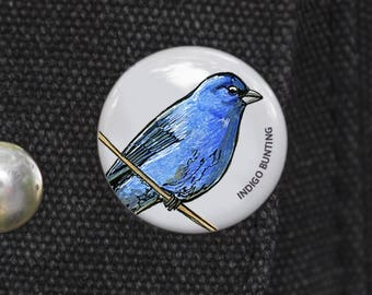 Indigo Bunting Bird Pin
