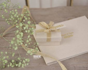 Vow Book - vows - geloftenboek - natural linen, personalized with letterpress, his and hers