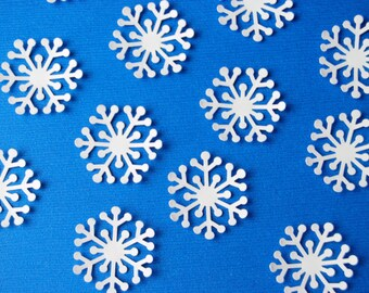 100 Winter frozen white Snowflakes Die cuts/punches Christmas Snowflakes confetti #4
