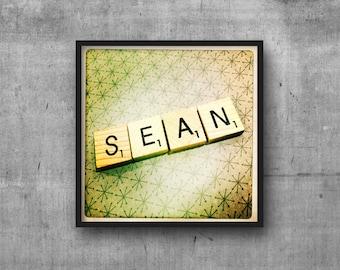 SEAN - Name Art - Scrabble Tile Name - Art Photo - Photography Art Print - Name Sign