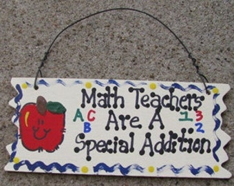 Teacher Gift Math Teachers Are A Special Addition Sign