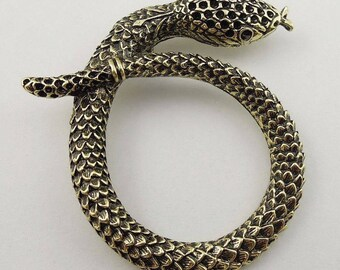 Pendant in antique bronze (x 1) large snake