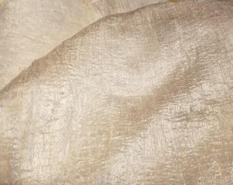 CRAZY Mulberry 100% Silk Laps sheets batts 5 ft x 10-11  ft of silk 31 oz for nuno felting spinning blending or knitting