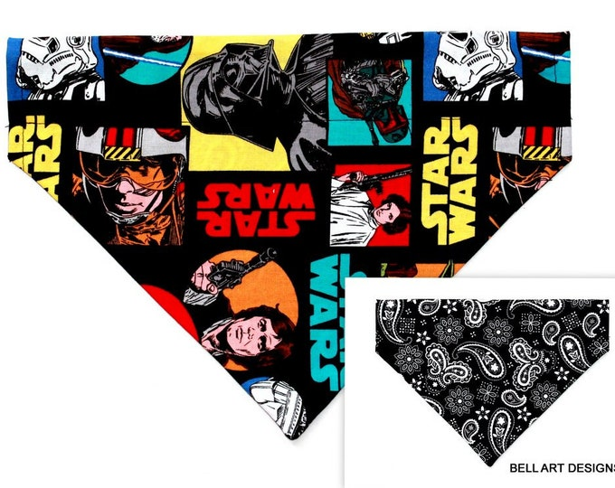 STAR WARS ~ Over the Collar ~ Reversible ~ Dog Pet Bandana ~ Bell Art Designs ~ Large DCL683