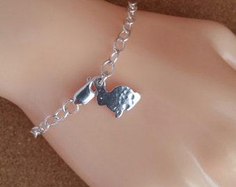 Bunny charm Bracelet Rabbit charm Bracelet Silver Rabbit Jewellery Bunny Charm Bracelet Rabbit Charm Bracelet