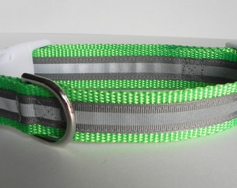 Grey Reflective Safety Dog Collar