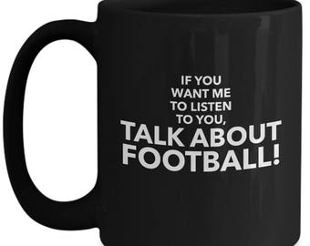 Football Fan Gift | Football Player Coffee Cup | Mug for Football | Black 11oz Coffee Mug