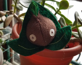 Small Green Seedy Guy (Embroidered)