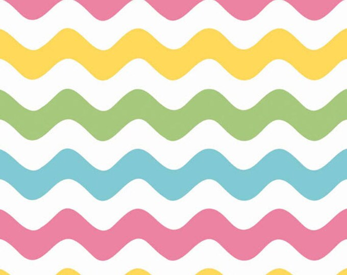 Half Yard Wave - Waves in Girl Colors - Cotton Quilt Fabric - RBD Designers for Riley Blake Designs - C415-03 (W3286)