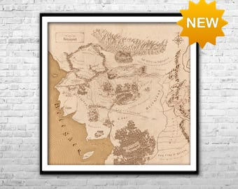 beleriand map lord of the rings detailed map middle earth map art wall art home decor multi panel lotr map poster thorins map tolkien map