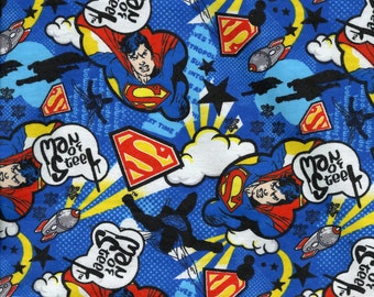 Superman FLANNEL ~Custom Made~ Crib/Toddler Fitted Sheet