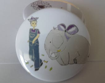 Mirror 56 mm child and the elephant bag