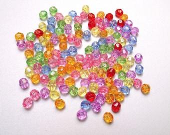 300 multicolored 6 mm acrylic beads
