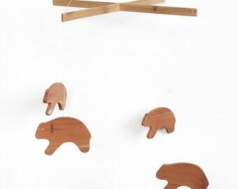 Wood Bear Mobile - Wooden Mobile