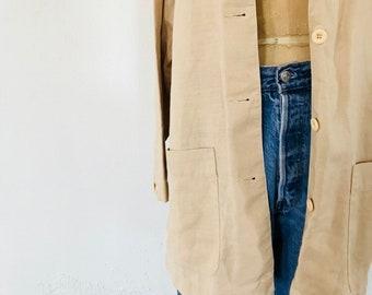 Oversized Linen Workwear Jacket
