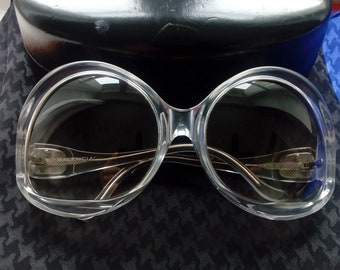 Vintage BALENCIAGA Oversized Sunglasses  /  Balenciaga Eyewear 70s  /  Designer Sunglasses