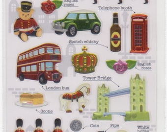 British Stickers - London Stickers - UK Items and Vocab - Mind Wave - Reference F1553F1646F1679A2715-16
