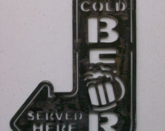 Ice Cold Beer, Man Cave Sign