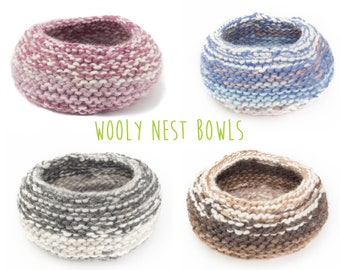 WOOLY nest bowls - attractive + practical, polychromatic bowls - browns, pinks, blues, greys, black