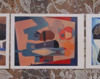 Frida Kahlo Postcard Prints - Set of 3 - Still Life, Still Life with Lemons,